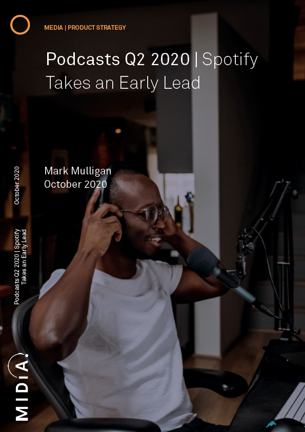 Cover image for Podcasts Q2 2020: Spotify takes an early lead