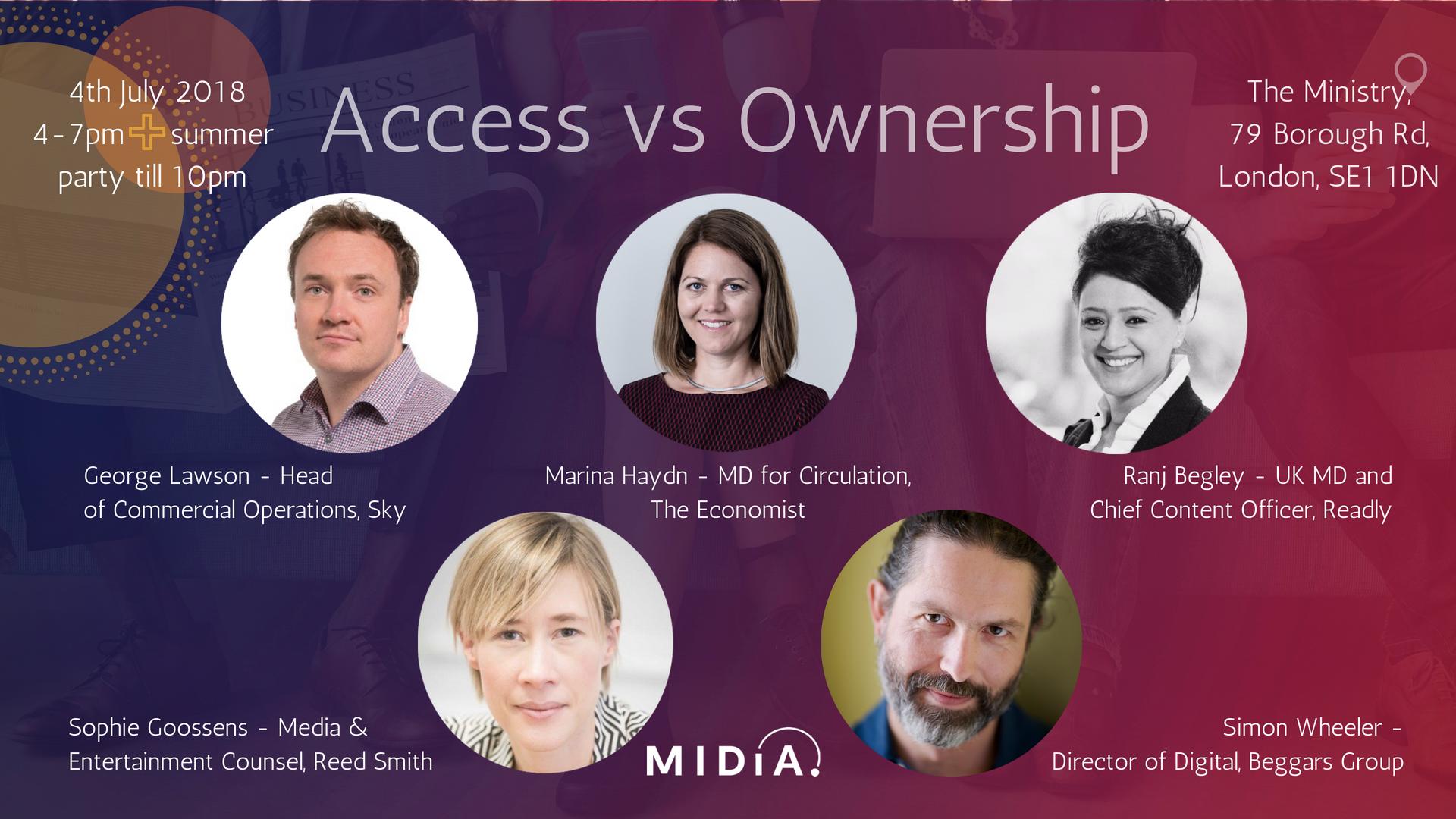 Access vs Ownership – Speakers