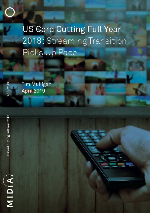 Cover image for US Cord Cutting Full-Year 2018: Transition Uptake