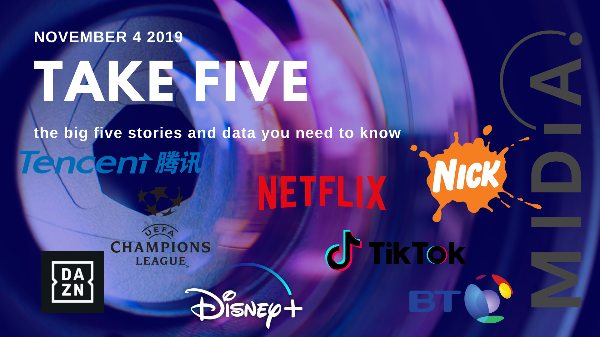 Cover image for Take Five (the big five stories and data you need to know) November 18th 2019