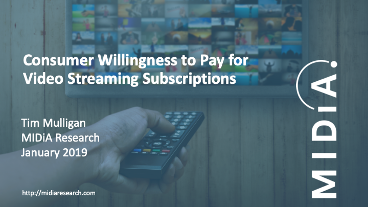 Cover image for Consumer Willingness to Pay for Video Streaming Subscriptions