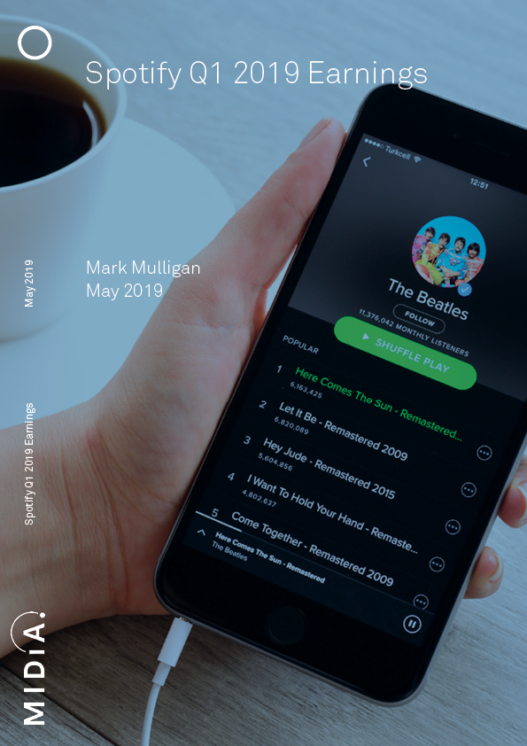 Cover image for Spotify Q1 2019 Earnings