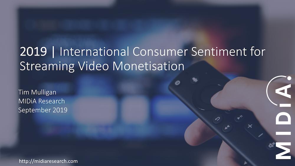 Cover image for International Consumer Sentiment for Streaming Video Monetisation