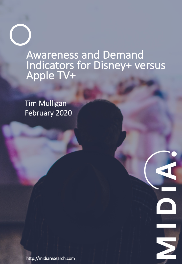 Cover image for Awareness and Demand Indicators for Disney+ versus Apple TV+
