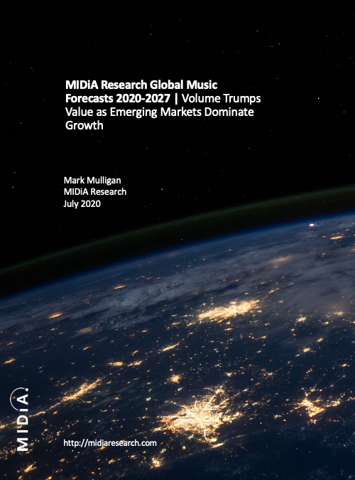 Cover image for MIDiA Research 2020-2027 Global Music Forecasts