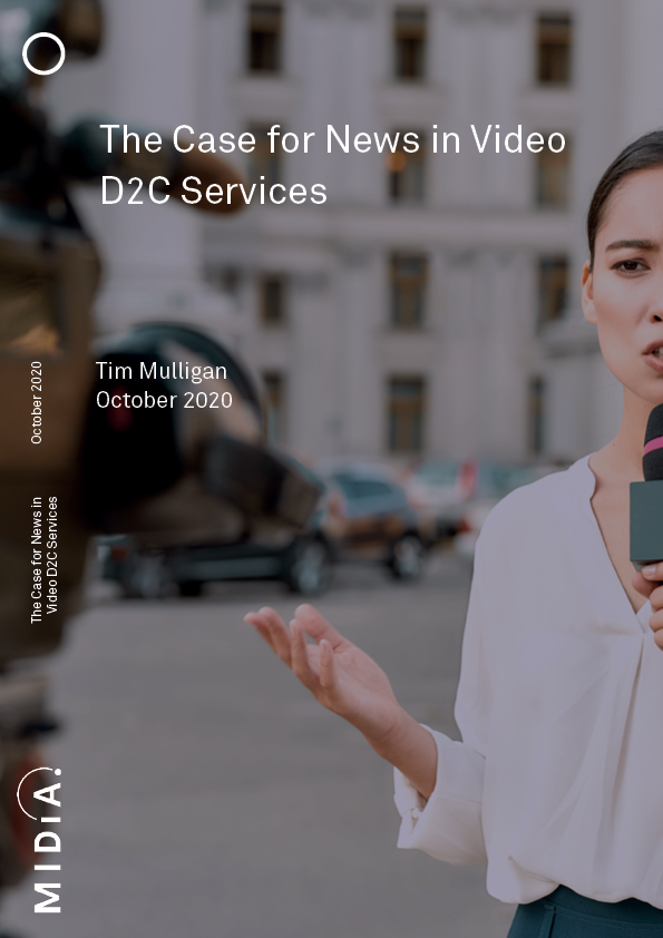 Cover image for The Case for News in Video D2C Services