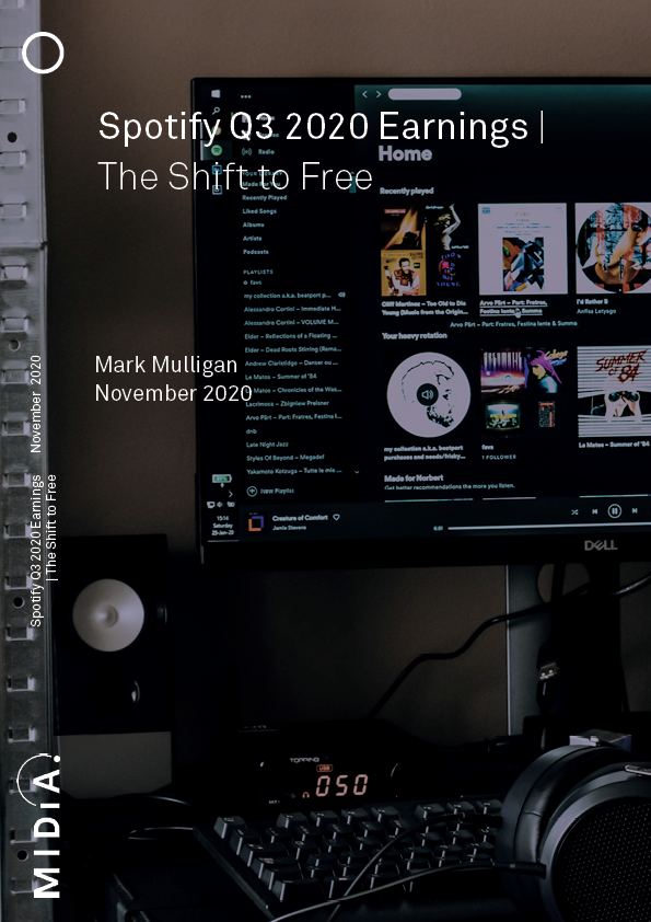 Cover image for Spotify Q3 2020 Earnings – The Shift to Free