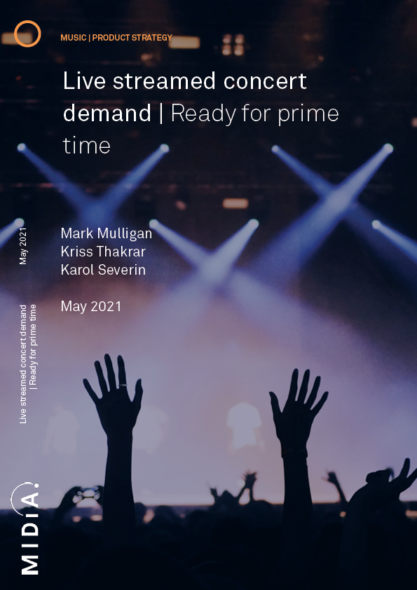 Cover image for Live streamed concert demand