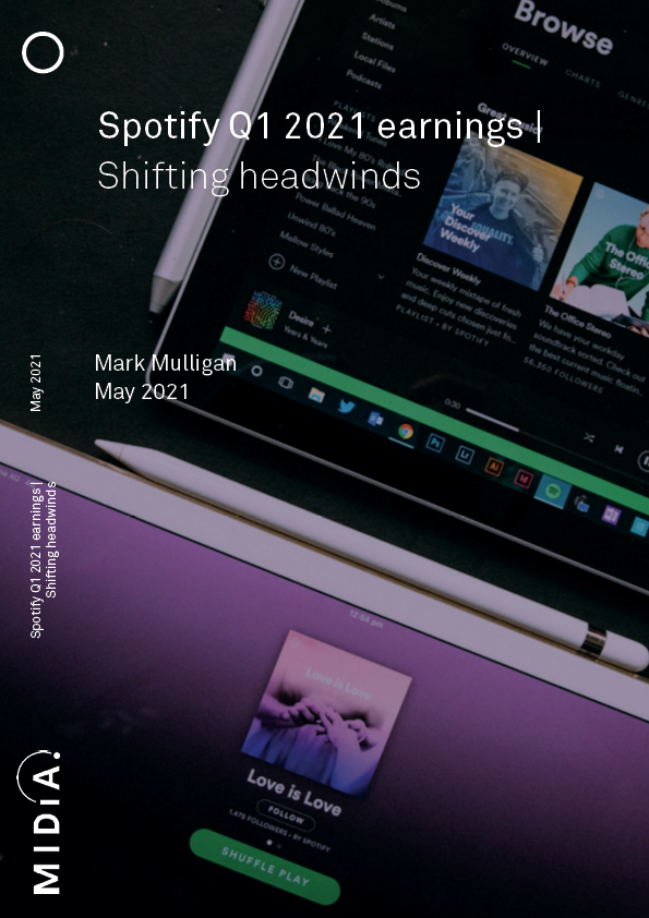 Cover image for Spotify Q1 2021 earnings