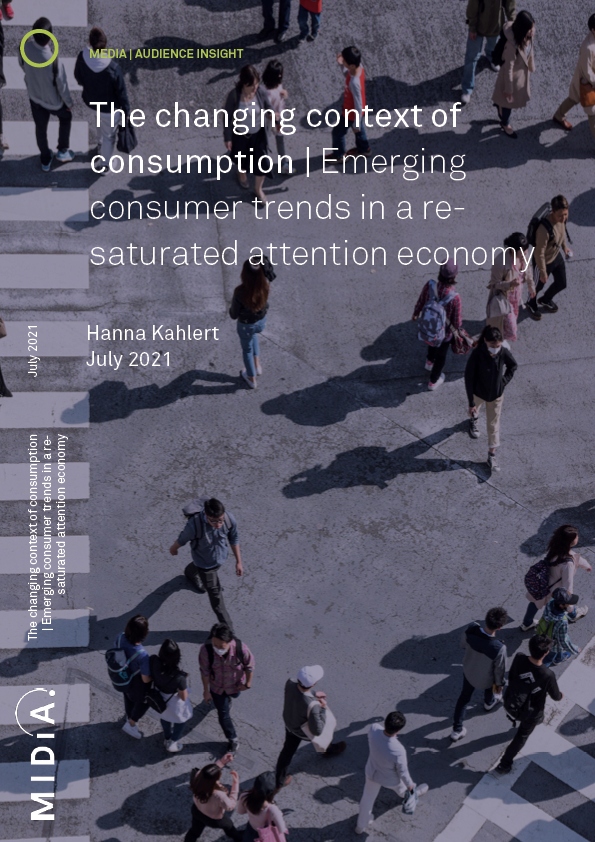 Cover image for The changing context of consumption