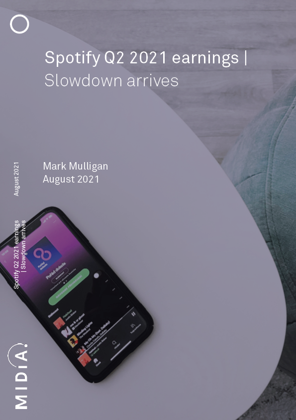Cover image for Spotify Q2 2021 earnings
